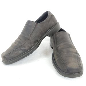 Ecco Mens Distressed Slip On Loafers Sz 44
